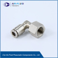 Air-Fluid Metal 90 Degree Female Thread Swivel Elbow