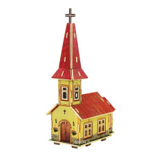 Wood Collectibles Toy for Global Houses-Norway Church