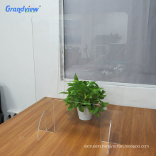 3mm-6mm clear table top perspex divider shield acrylic screen sneeze guard