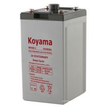 2V estacionária AGM bateria -2V400AH para usina