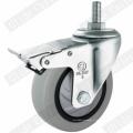 Roulette de roue pivotante Tpp à roulement simple (gris) (G3117)