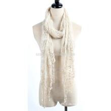 Art und Weise Polyesterdamen Spitze Schal