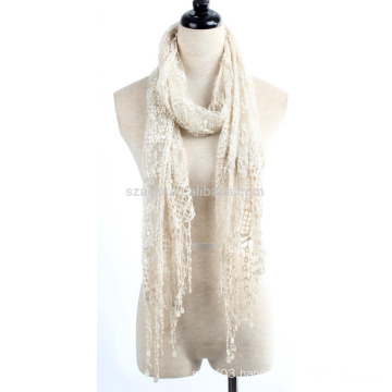 Fashion polyester ladies lace scarf