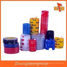 Matériel de PVC personnalisable sensible à la chaleur, bandes de rétractation évidents imprimables avec votre logo