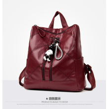 Women's Genuine Leather Purse Ladies Casual Backpack