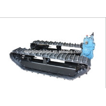 Mini Rubber crawler track chassis Construction Equipment sandy beach Agricultural Farm