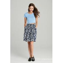 Ladies Printed Viscose Skirt