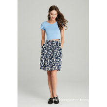 Ladies Printed Viscose Skirt