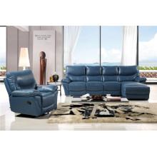 Sofá de salón con sofá moderno de cuero genuino (451)