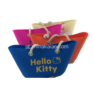 Hot New Colorful Candy Silicone saco de praia Tote Bag bolsa de ombro
