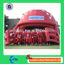 customized inflatable football helmet with tunnel