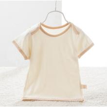Algodão orgânico mangas curtas t-shirt