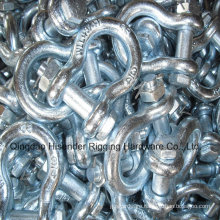 Us Type Forged Shackle with Pin and Safety Nut. G2130