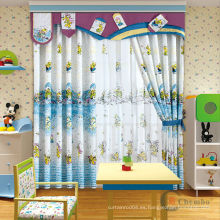 Cortinas de color coral para habitación de niños