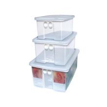 3PCS ajustaram o recipiente de alimento retangular do grampo do produto comestível hermético