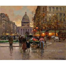 Peinture à l'huile décorative parisienne sur toile