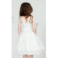 Robe de soirée à manches courtes en coton sans manches filles en robe de soirée courte ED791