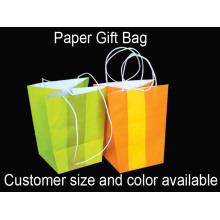 Long Paper Twisted Handle Bag