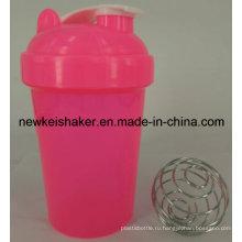 Популярные 500 мл Открытый спортивный пластиковый протеин бутылка с крышкой