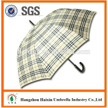 Auto Open Straight Promotion Umbrella with Shoulder Strap