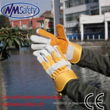 Luva de solda de couro NMSAFETY importador de luvas de couro de trabalho