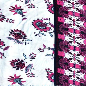 Новая мода вискоза спандекс с цветочным принтом ткань