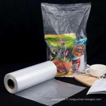 Sac en plastique de sac de rouleau de supermarché de HDPE