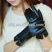 bow style lampskin thinsulate octea lady gloves leather