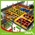 ASTM certified Jump zone continuous jumping bed trampoline park with foam pit