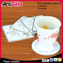 Prácticos de costa de papel de barra absorbentes baratos de la fábrica de China para las bebidas