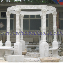 Antique Garden Gazebo Tent with Stone Marble Granite Sandstone (GR055)