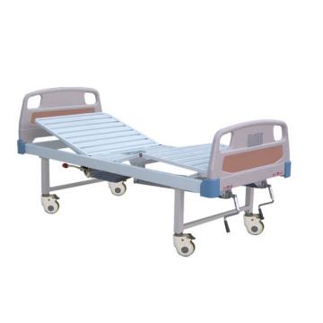 (A-192) Lit d'hôpital mobile fonctionnel à deux fonctions avec pot de chambre et tête de lit ABS
