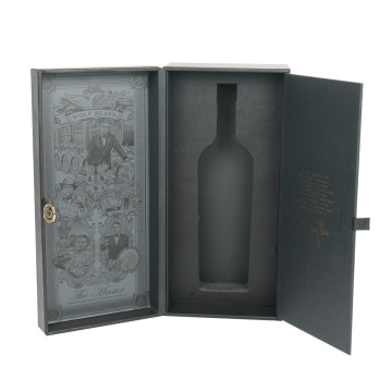 Magnetic Book Shaped Wine Packaging Box