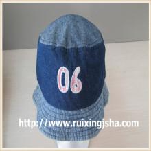 Personalizado tampa balde lavado de Jean azul e chapéu