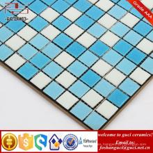 China suministra azulejos y pavimentos de mosaico hot-melt mezclados en azul
