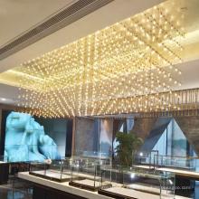 Araña led de hotel moderno personalizado de ingeniería profesional