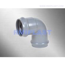 Фитинг из ПВХ с резиновым кольцом, колено 90 градусов
