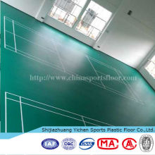 Wear-resisting badminton court flooring