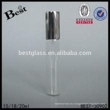15 / 20ml perfume de marca botella de tubo de vidrio con pulverizador de aluminio y tapa, perfumes y fragancias en Francia al por mayor, precio barato