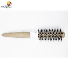 Cepillo redondo nano térmico de cerámica y iónico para barriles con cerdas de jabalí