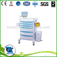 Movabble ABS Kunststoff und Metall Klinik Medizin Trolley medizinischen Warenkorb