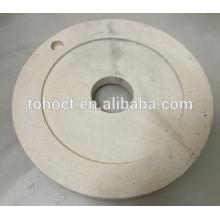 Pan milling ceramic plate al2o3 zirocnia mullite ceramic grinding round plate mill grinding