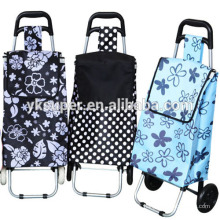 Foldable shopping cart trolley with removable bags
