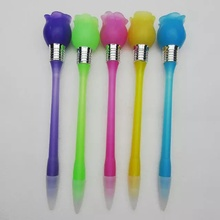 LED Knock Light Lotiform Ballpoint Pen