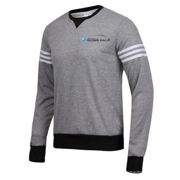 Camisas y jerséis de cuello redondo a mano con cuello redondo a prueba de viento de los hombres