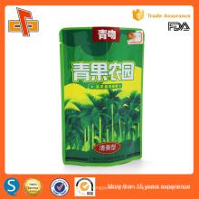 Haute qualité qualité alimentaire chinoise réutilisable stand up réutilisable sachet en aluminium à fermeture à glissière