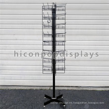 8 Tiered 96 Prongs 65 Long Floorstanding Rotating Metal Candy Bag Los estantes colgantes de exhibición al por mayor