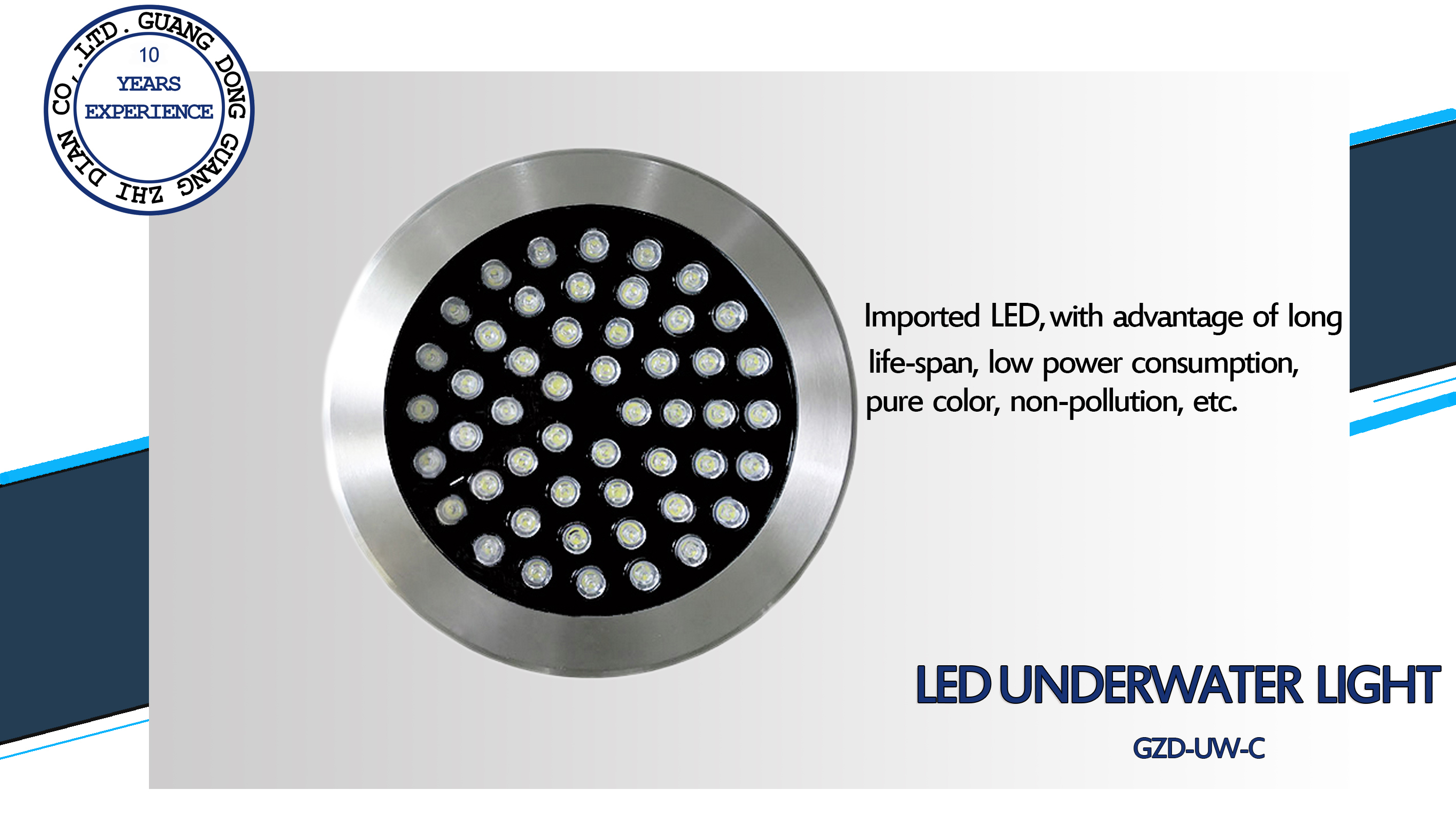 IP68 LED underwater light