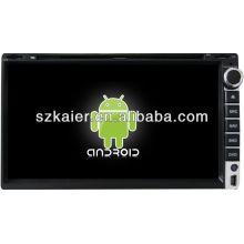 Reprodutor de DVD do carro do sistema de Android para o universal 4 com GPS, Bluetooth, 3G, iPod, jogos, zona dupla, controle de volante