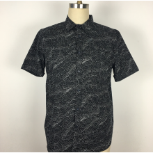 Spring autumn Flowers Casual short Sleeves Shirts
